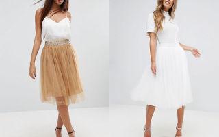 С чем носить юбки из сетки
