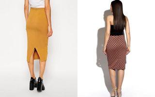 С чем носить трикотажную юбку карандаш
