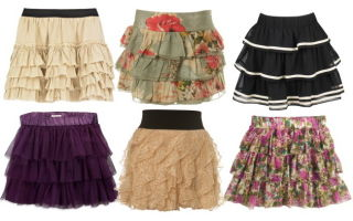 С чем носить юбки с воланами и оборками