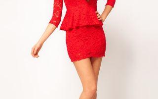 Соблазнительные красные платья