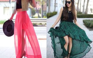 С чем носить юбки с запахом