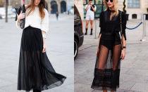 С чем носить прозрачные юбки