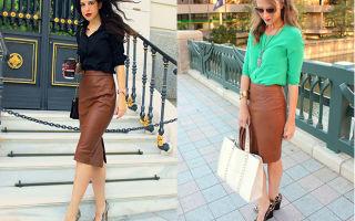 С чем носить коричневые юбки