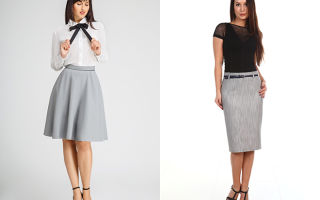 С чем носить серые юбки