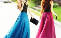 С чем носить шифоновые юбки