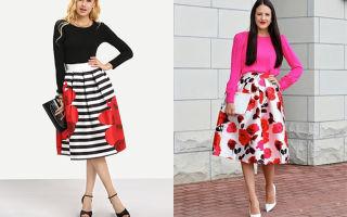 С чем носить юбки миди