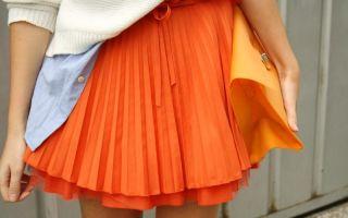 С чем носить оранжевые юбки
