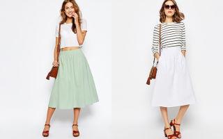 С чем носить юбки из льна