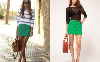 С чем носить зеленые юбки