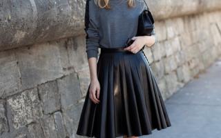 С чем носить юбку трапецию