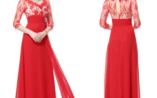 Актуальные модели длинных платьев