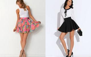 С чем носить юбку солнце клеш