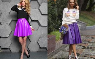 С чем носить сиреневую юбку