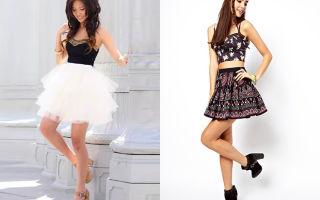 С чем носить короткие юбки