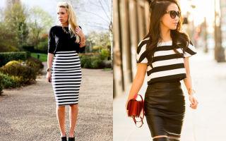 Как носить юбки с завышенной талией и топ