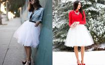 С чем носить юбки из фатина