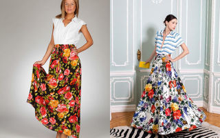 С чем носить юбки с цветочным принтом