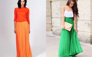 С чем носить плиссированные юбки: плиссе
