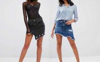 С чем носить джинсовые юбки