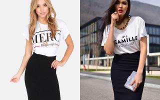 С чем носить черные юбки