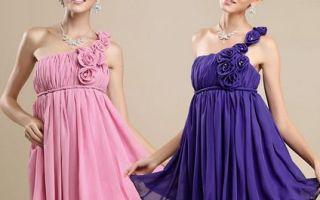 Платье на одно плечо — особенности фасона