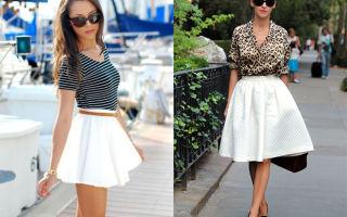 С чем носить белые юбки