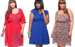 Платье-туника для полных: особенности и цвет