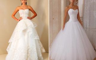 Пышные свадебные платья – вечно модная классика