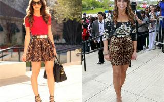 С чем носить леопардовые юбки