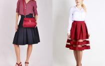 С чем носить юбки в складку