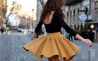 С чем носить юбки солнце