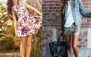 Платье с кедами — стильное сочетание