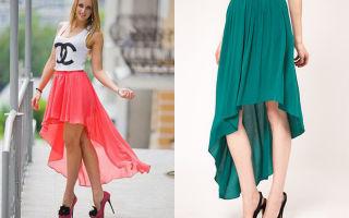 С чем носить асимметричные юбки