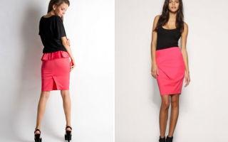 С чем носить розовую юбку карандаш