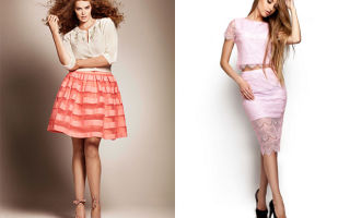 С чем носить юбки из гипюра