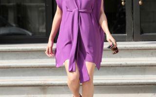 Фиолетовое платье – символ благородства и женственности