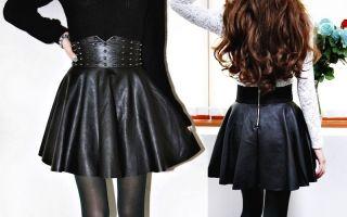 С чем носить юбки с широким поясом на талии