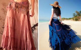 С чем носить юбки бохо