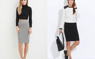 С чем носить трикотажные юбки
