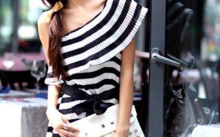 Платье в полоску – основной тренд моды