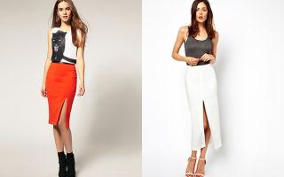 С чем носить юбки с разрезом