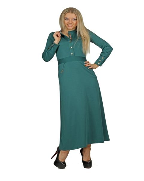 Серо-зеленое изделие для худеньких дам