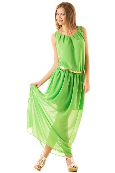 Платье салатного цвета для блондинок