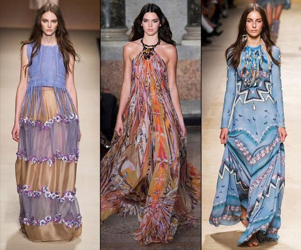 Длинные «цыганские» платья