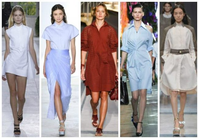 Разновидности платьев-рубашек