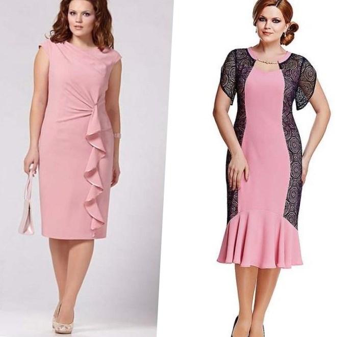 Модель платья для полных