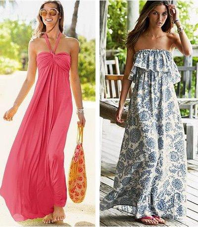 Длинные платья-сарафаны