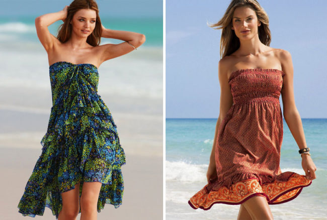 Платья без лямок
