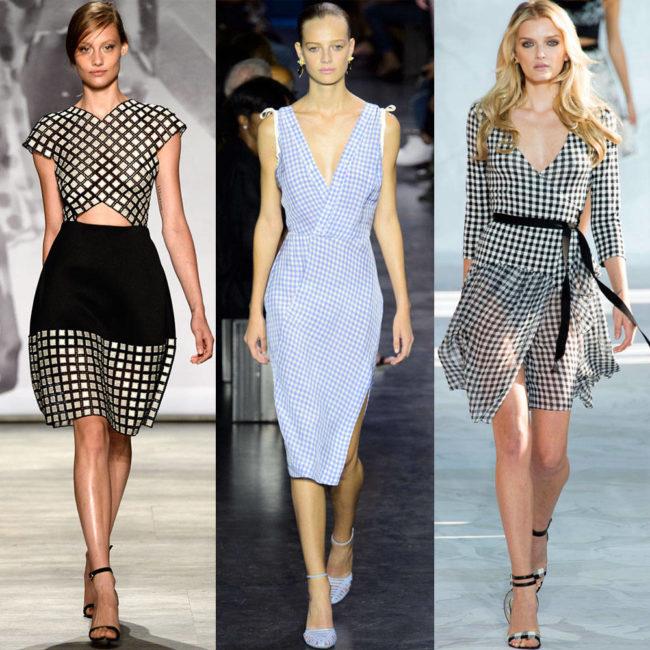Стильные платья с принтом виши
