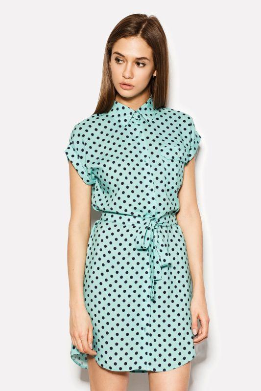 Короткое платье из штапеля